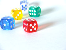 High Key Dice Royalty Free Stock Image
