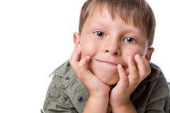 High key image of a boy. High key image of a little boy Stock Photos