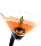 High key image of car keys in a coctail - don't drink and drive. Isolated Stock Photography