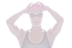 High Key image of Swimmer Royalty Free Stock Photos