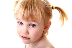 High key pigtail girl Stock Images