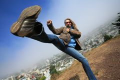 High kick Royalty Free Stock Image