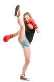 High kick with the leg Stock Image