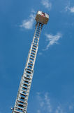 High Ladder with Rescue Basket Stock Images