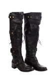 High leather boots for women Royalty Free Stock Photography