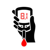 High level of blood sugar vector icon. Diabetes sign Stock Photo