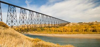 High Level Bridge At Lethbridge Stock Photography