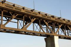 High level bridge in edmonton. High level bridge in downtown of the city edmonton, alberta, canada Stock Photography