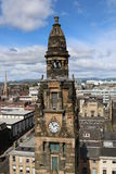 A high level view of Glasgow Roman Church. Glasgow Free Church clocktower seen from the Pinnacle building on Bothwell Street in 2016 Stock Images