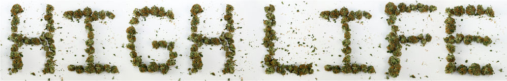 High Life Spelled With Marijuana Stock Photography