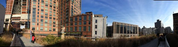 High Line, Chelsea, New York City. High Line view over the city, Chelsea area in New York City, USA Stock Photography
