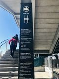High Line Entrance stock photos