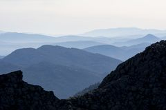 High and line mountains in the Mediterranean region royalty free stock photography