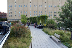 High Line.  New York City. Elevated pedestrian Park Royalty Free Stock Photography