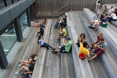 High Line.  New York City. Elevated pedestrian Park. NEW YORK CITY - SEPTEMBER 03: People at High Line Park in NYC on September 03th, 2013. The High Line is a Stock Photography