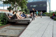 High Line.  New York City. Elevated pedestrian Park Royalty Free Stock Photo