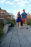 High Line.  New York City. Elevated pedestrian Park. NEW YORK CITY - SEPTEMBER 03: People at High Line Park in NYC on September 03th, 2013. The High Line is a Stock Photo
