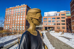 The High Line in New York City. Stock Photos