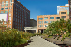High Line Park in Chelsea, NY Royalty Free Stock Photos