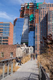 High Line Park and Construction Stock Images