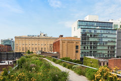 High line park in Manhattan, New York royalty free stock image