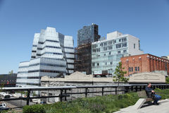 High Line Park in New York City. The High line Park in Chelsea , midtown Manhattan Stock Photos