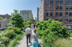 High Line Park Stock Photos