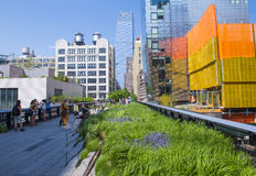 High line park in New York Stock Photos