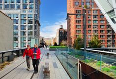 High Line Park, New York City Royalty Free Stock Photos