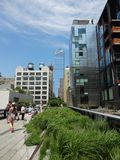 High Line Park in New York, New York stock image