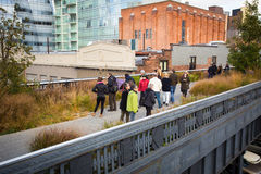 High Line Park NYC Stock Photo