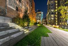 High Line promenade in evening, Chelsea, Manhattan, New York Cit Stock Photo