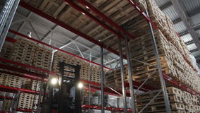 High Loaded Rows in Large Warehouse stock video