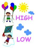High and low Stock Photo