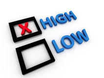 High and Low letters Stock Photography