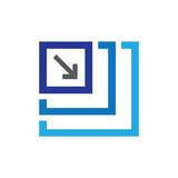 High or low res image icon - for UI or UX. UI or UX High or low res image icon royalty free illustration