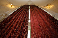 High luxurious curtains Stock Image
