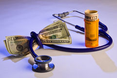 High medical cost Royalty Free Stock Photography