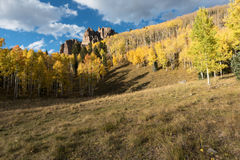 High Mesa Pinnacles in Cimarron Valley Colorado. High Mesa Pinnacles in Cimarron Valley Colorado located in Gunnison National Forest Royalty Free Stock Photo