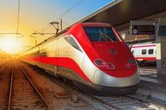 high modern speed train Στοκ Φωτογραφίες