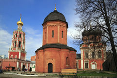 High Monastery of St Peter in Moscow, Russia. Russian Orthodox monastery in the Bely Gorod of Moscow, founded in the 1320s by the first Russian metropolitan Royalty Free Stock Photos