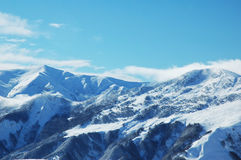 High montaines under snow Royalty Free Stock Photography