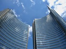 High mordern skyscrapers in Milan royalty free stock photos