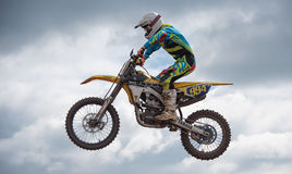 High Motorcross Jump Royalty Free Stock Photos