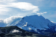 High Mountain. Es under sky in Tibet Royalty Free Stock Image