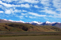 High Mountain. Es under sky in Tibet Stock Photography