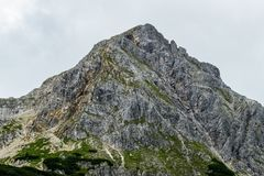 High mountain in Austrian Alps Royalty Free Stock Photography