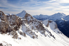 High mountain in Austrian Alps in winter Royalty Free Stock Photos
