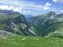 High mountain sky dolomiten italy Royalty Free Stock Images