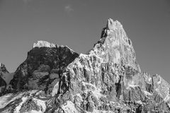 High mountain bw Royalty Free Stock Images